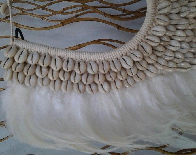 Full White Papua Native Warrior necklace