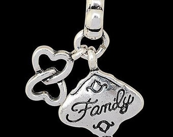 European Dangle, Charm Bead For All Large Hole Charm Bracelet And Necklace Chain. Family.15x30mm