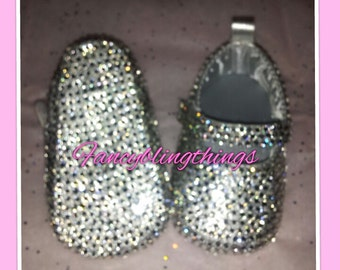 Crystal Cinderella Bling Baby Shoes