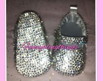 Diamond Cinderella Bling Baby Shoes