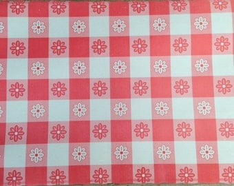 gingham disposable placemats cookout paper picnic table place mats summer party barbecue red white checks