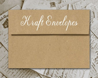 Add-On Kraft Brown Envelopes