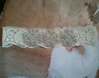 Wedding Toss Garter - Crystal Rhinestone  - Style TG142