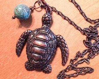 Sea Turtle pendant, sealife pendant, turtle jewelry, turtle pendant