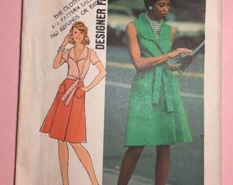 Simplicity 6844- Size 12 Women's Vintage Wrap Dress Pattern UNCUT