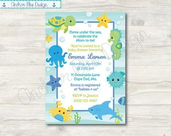 Under The Sea Shower Invitation - Boy