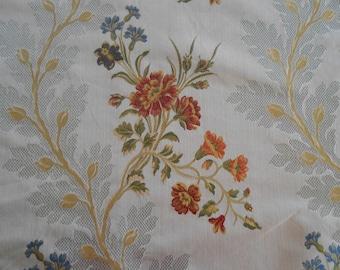 """SCALAMANDRE Fabric """"LUISA' Lampas Brocade Remnant Lot"""