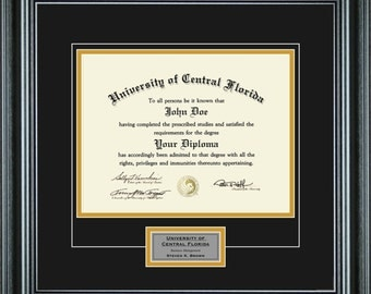 Personalized Diploma Frame (8.5x11 Diploma)