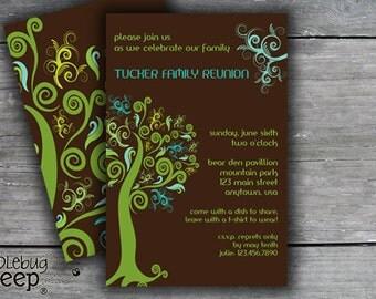 Family Reunion Invitation, Family Reunion Invite, Celebrate Our Family, Family Gathering Invite, DIGITAL FILE