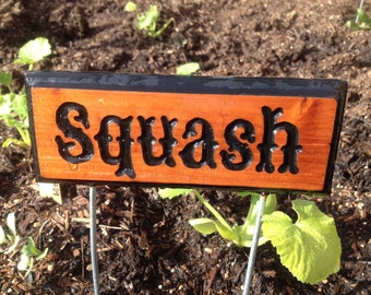 Garden sign - Custom Cedar Signs -Hand Carved Cedar signs Personalized gift