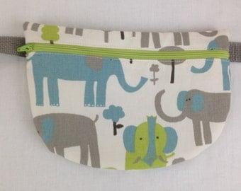 Elephants Flat Fanny Pack, Waist Bag, Hip Pouch