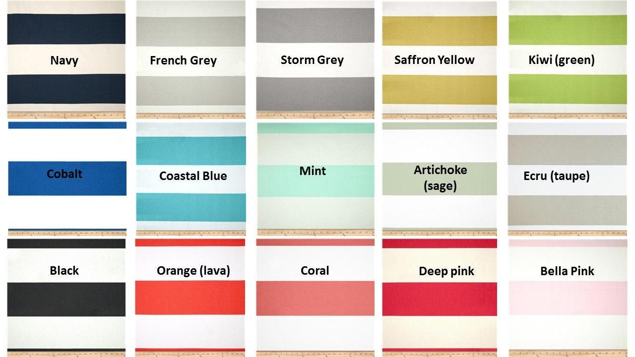 Yellow stripe shower curtain - Fabric Shower Curtain 72 Wide Premier Print Cabana Horizontal Stripe Collection Navy Blue 72x72 72x84 72x96 72x96 Grey Yellow