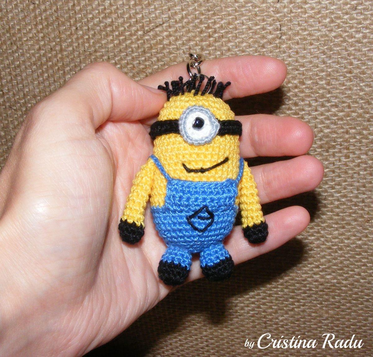 Amigurumi Crochet Minion : Keychain minion amigurumi minion Despicable Me by raducristina