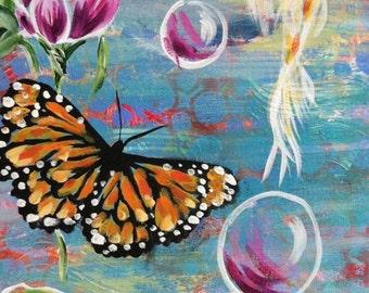 Rise Above original acrylic painting