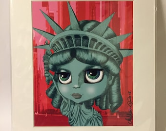 "Lady Liberty (Statue of Liberty) 11x14"" art print by deShan"