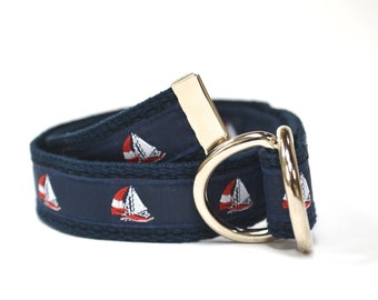Sailboat Belt - Nautical Belt - Boys Belt - Canvas Belt - Ring Bearer Belt - Ringer Bearer Outfit - Nautical Wedding Outfit - Toddler Belt