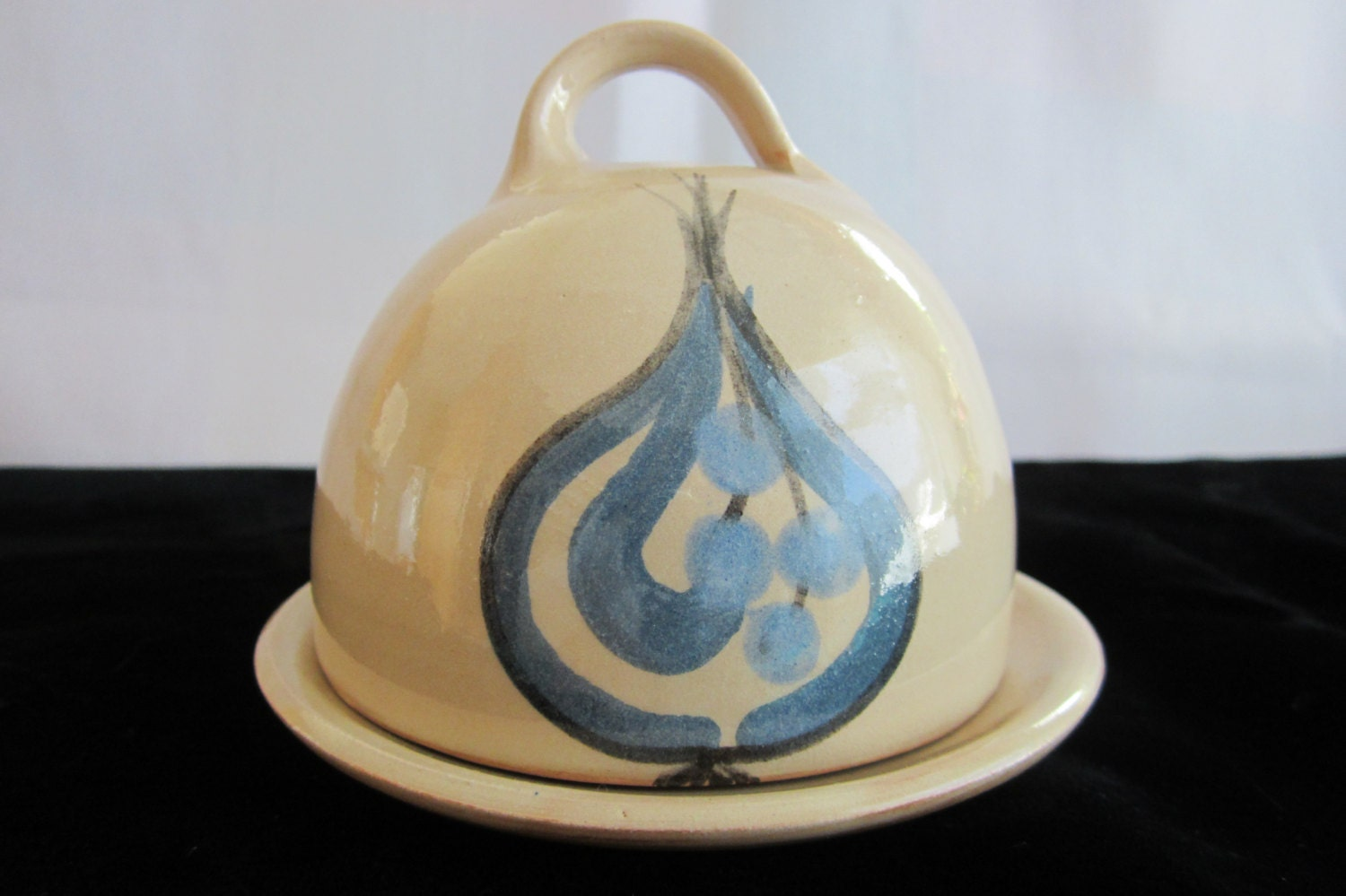 Handmade Ceramic Butter Dish With Lid By Saltwatervillage