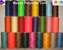 500 meters 25 COLORS x 20 METERS LINHASITA waxed polyester cord 1 mm