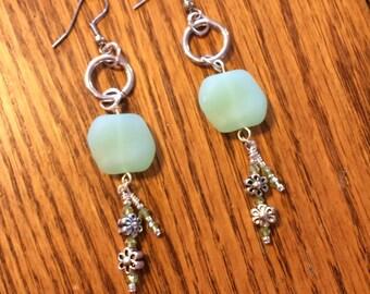 Seafoam Seaglass earrings