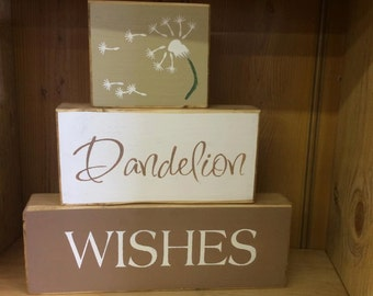 Dandelion Wishes - Rustic Block Set | Country | Primitive |