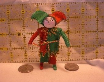 Hand made Wee Folk Bendable Doll House Royal Court Jester