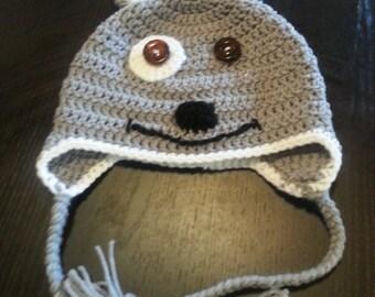 Cute Crochet Puppy Ear Flap Hat