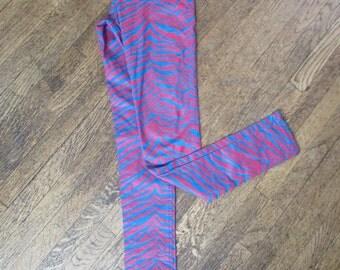Vintage 90's Zebra Print TRIPP NYC  Neon Pants || Size 5