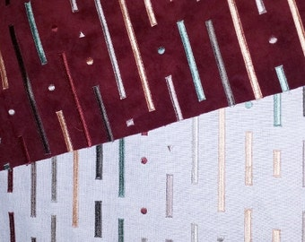 Maroon and Colors Upolstery Fabric