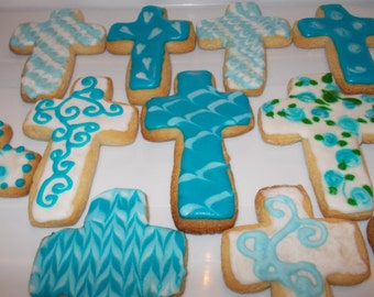 Baptism Cross Cookies