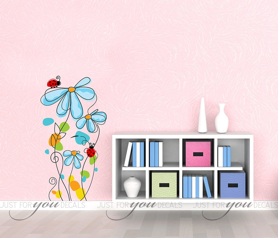 Nursery Wall Decal Teen Girl Room Wall Decal Flower Decal