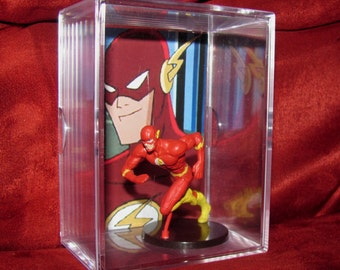 "Justice League ""The Flash"" Collectible Figure/DC Card Display/New and Unique...smoke free home...."
