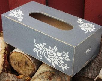 Shabby gray tissue box