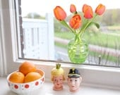 2 pcs 'Flat Flowers' Window Decals (Tulip Orange)