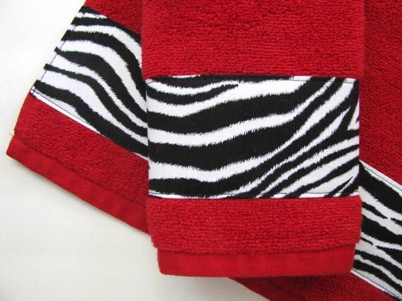 red and black zebra bath towels bathroom towels bath towel