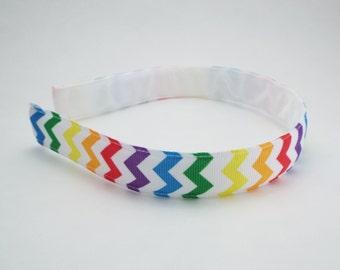 Rainbow Chevron Hairband