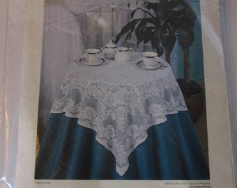 Camellia Quaker Lace Table Topper