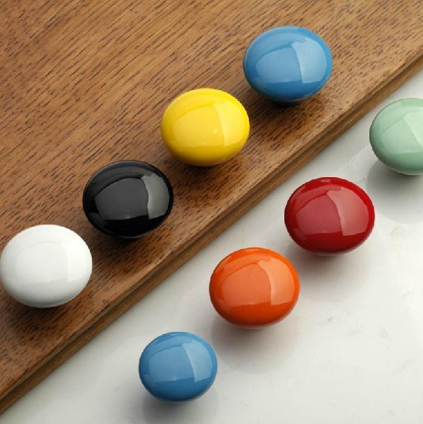 Ceramic knobs kitchen cabinet knobs handle pulls dresser for Children s bureau knobs