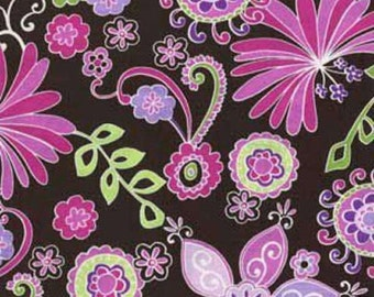 HALF YARD Quilting Cotton - Michael Miller - Boho Blossom - Pink Orchid - Contemporary Florals Collection