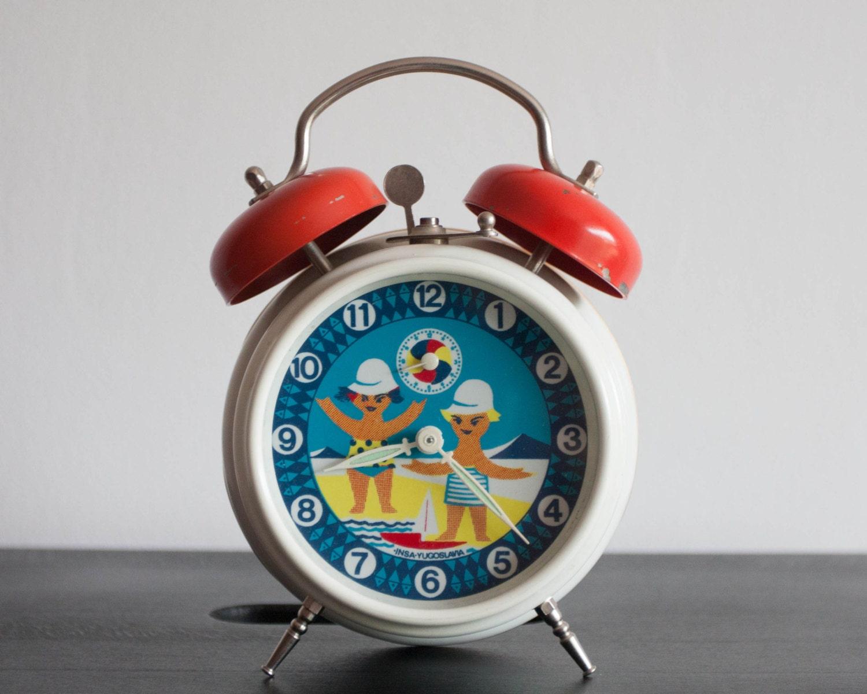 Vintage Children 39 S Alarm Clock Table Clock Insa