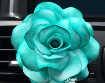 Car Flower Teal Blue