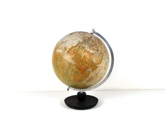 French Rustic 1964 Planet Earth Globe