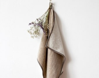 Natural Melange Linen Terry Towel