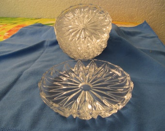 Glass crystal Valley dishes 7 PCs