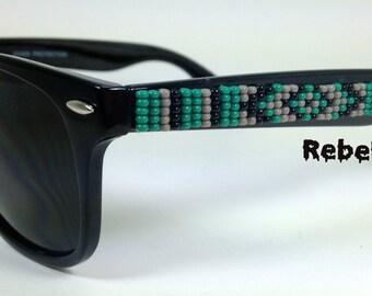 Beaded Sunglasses Camo Green