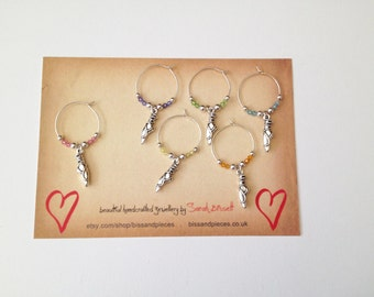 Ballet slippers wine charms. Wine charms