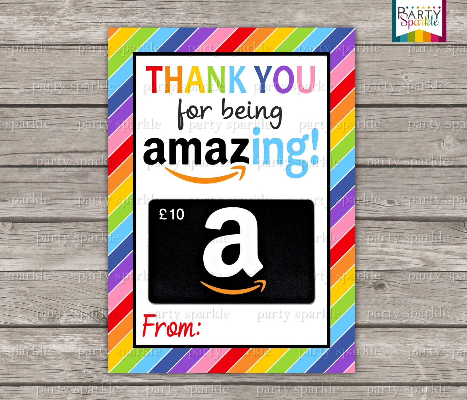 You Re Amazing Thank You: INSTANT DOWNLOAD Thank You For Being Amazing Amazon Gift