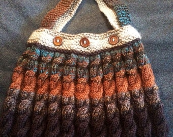 Knit Cabled Purse