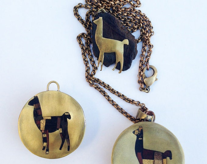 Llama pendents, one of a kind