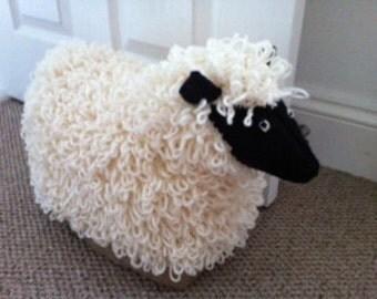 Items similar to knitted sheep - waldorf toys. Amigurumi ...