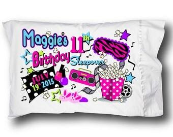 Girls Slumber Party PILLOWCASE PRINTABLE for an Iron On Transfer Pillowcase Rockin Birthday Party